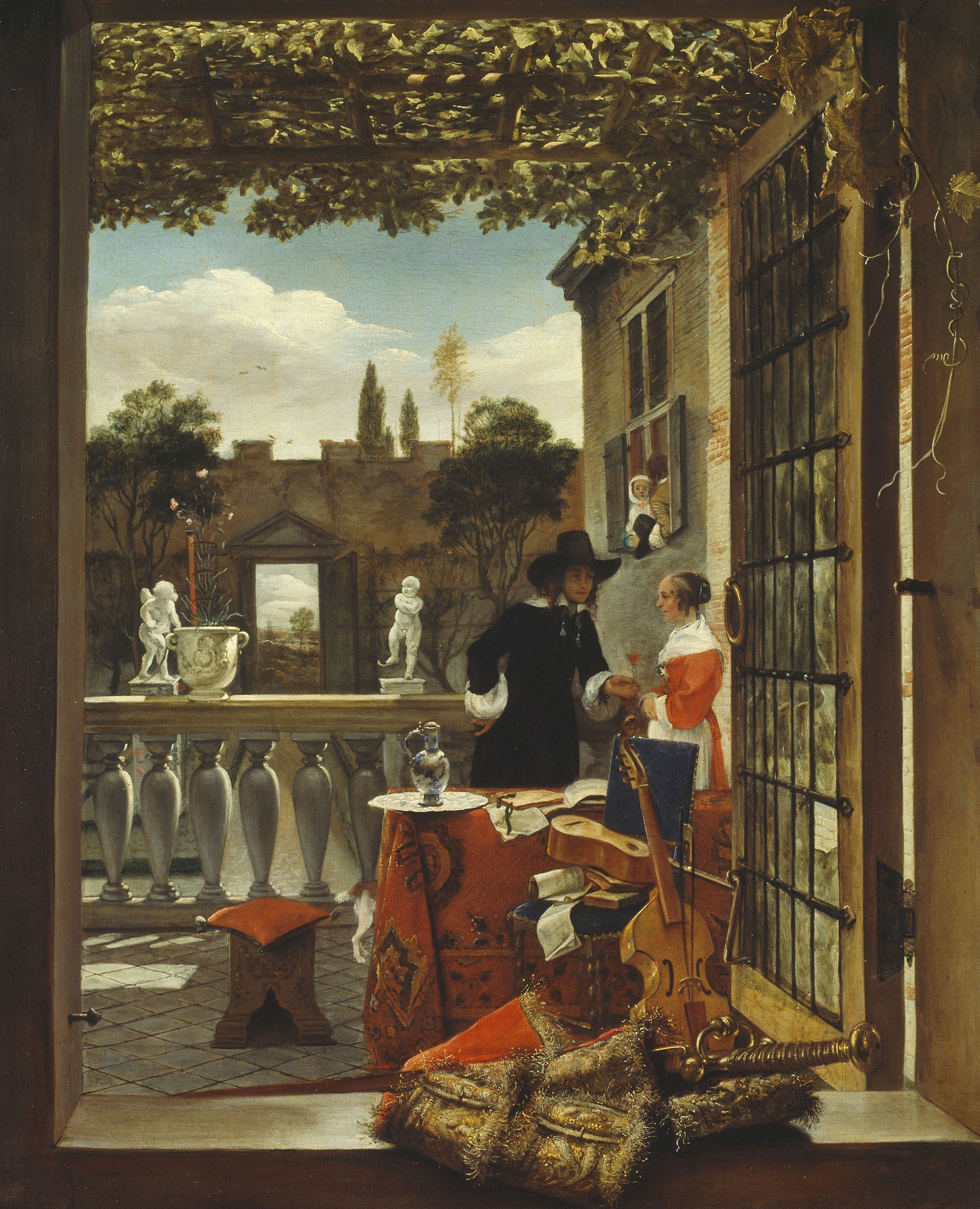 Artist unknown. The Terrace, about 1660.      Robert A. Waller Memorial Fund