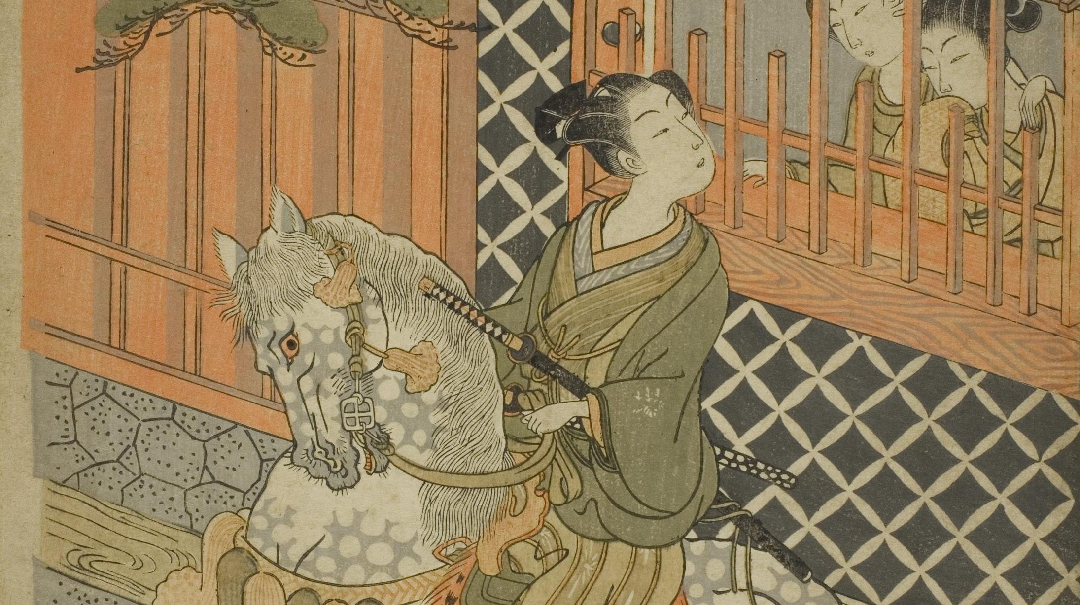 1925.2200 Young samurai on horseback Isodo Koryusai