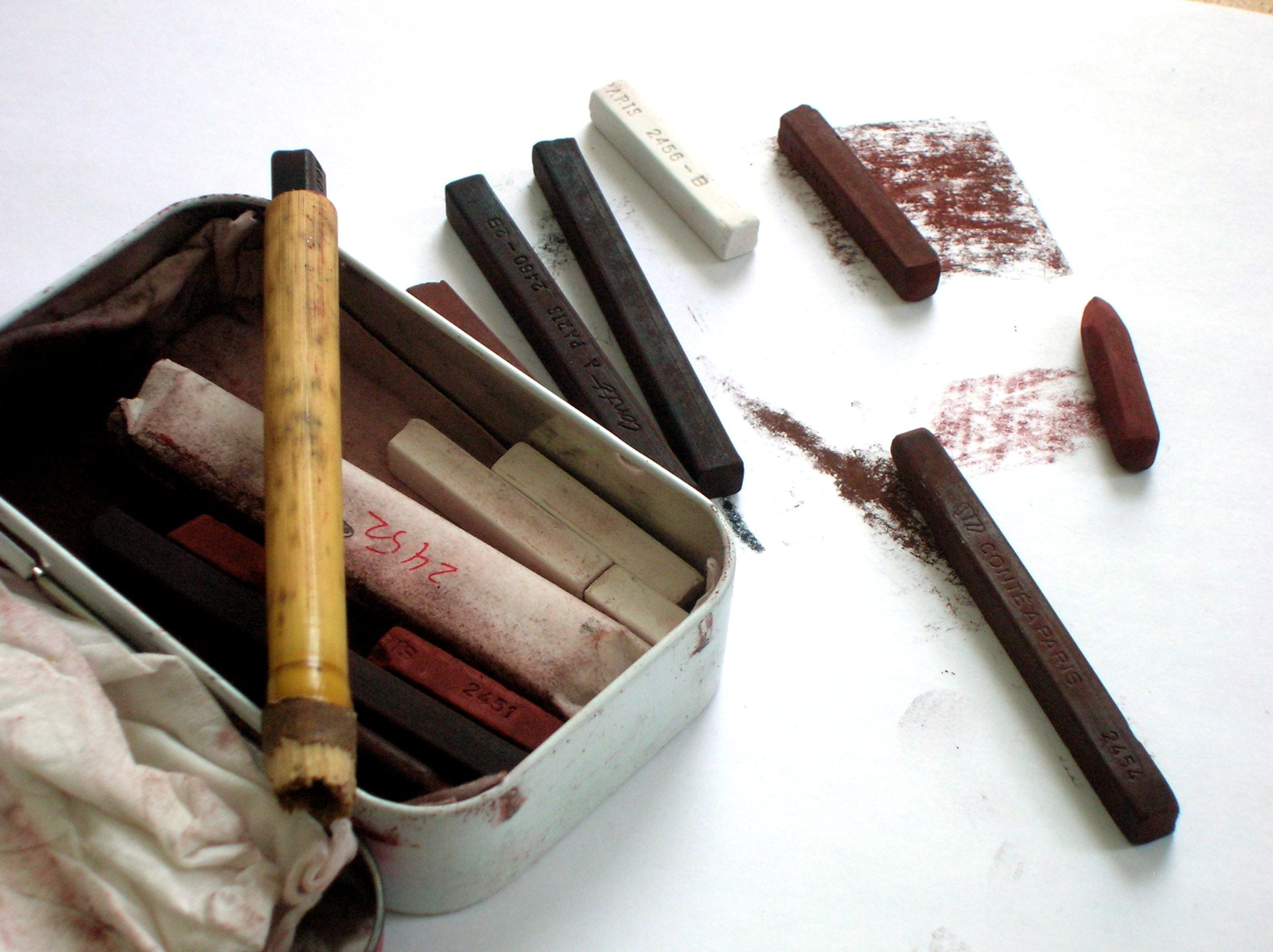 A seletction of Conte Crayons