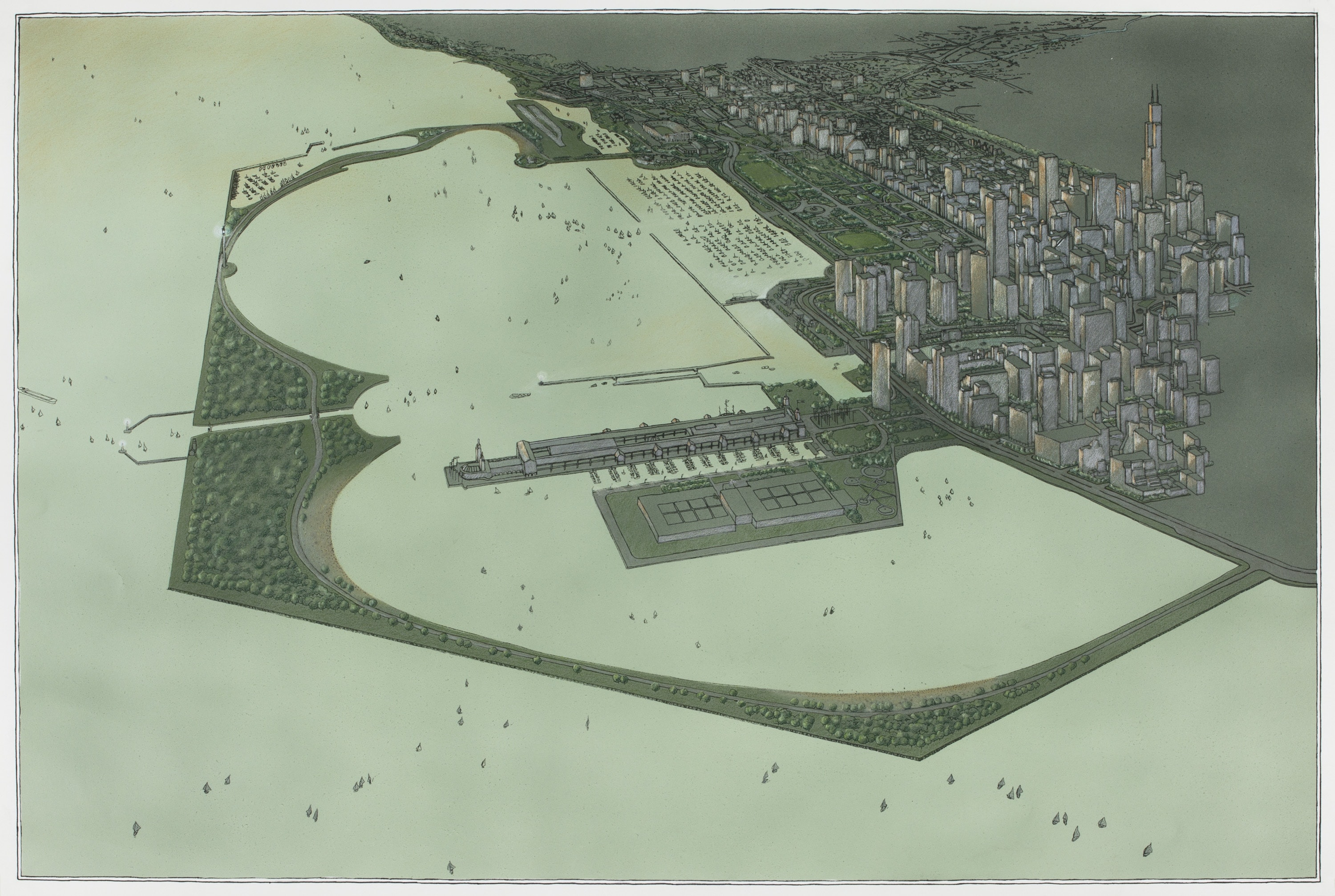 Chicago Lagoon Proposal, Perspective