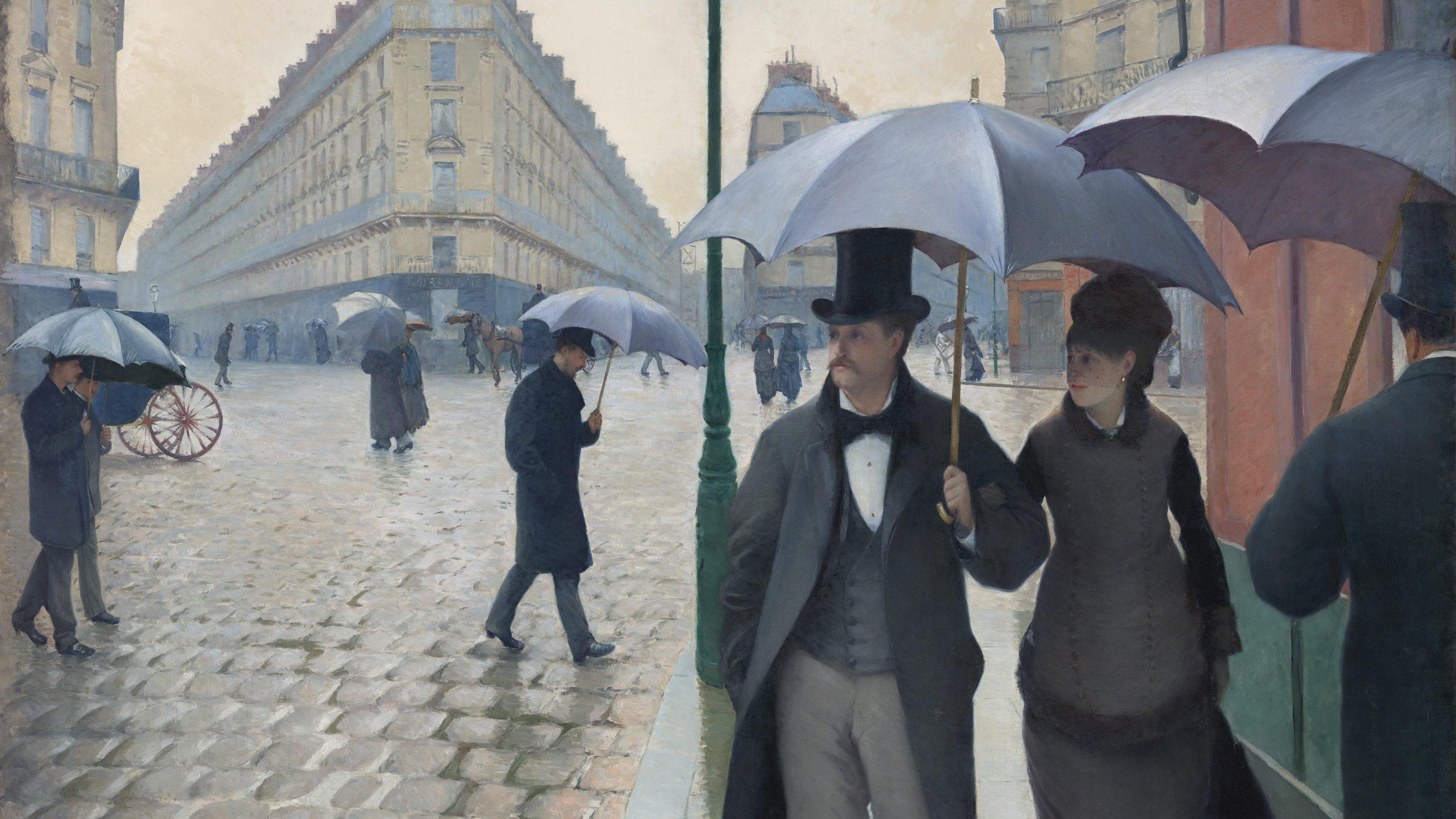 Caillebotte Paris Street Rainy Day 1877