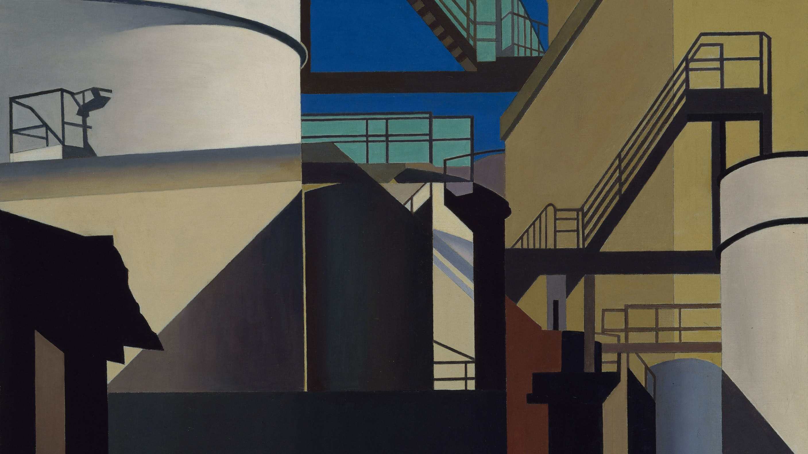 Charles Sheeler's Percisionist painting of a steel mill.