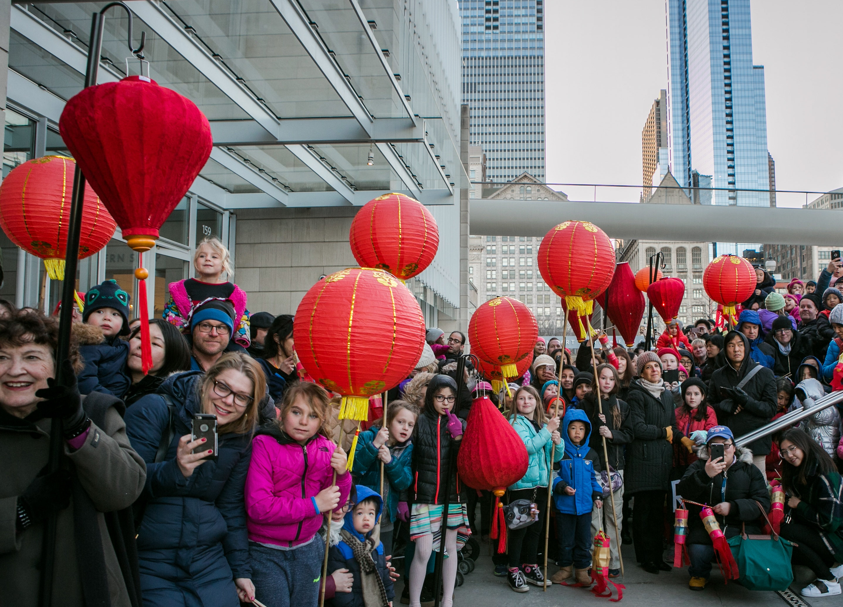 Chinese New Year Festival Outside of the Modern Wing at the Art Institute