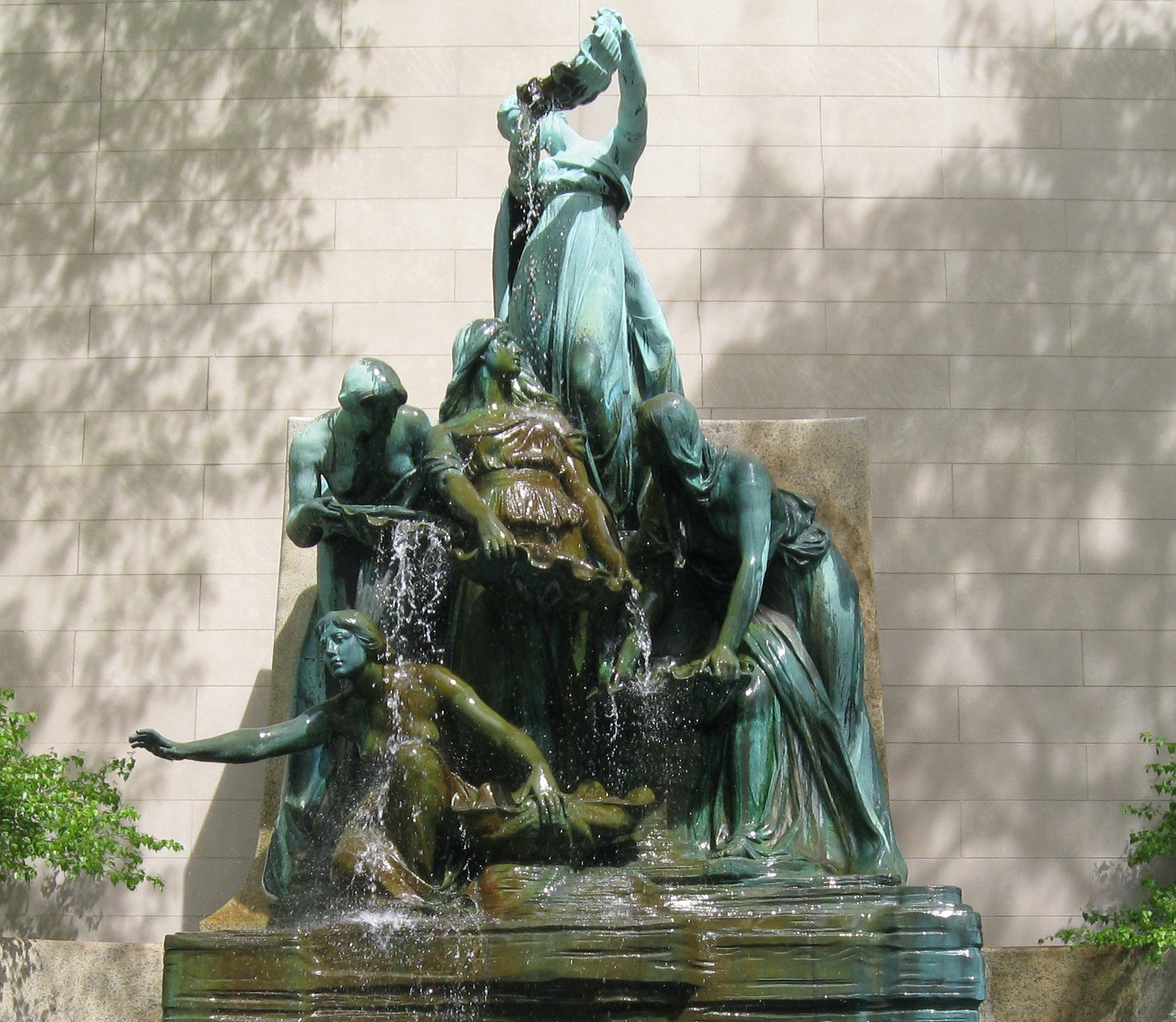 Fountain Of The Great Lakes by Lorado Taft in the South Garden