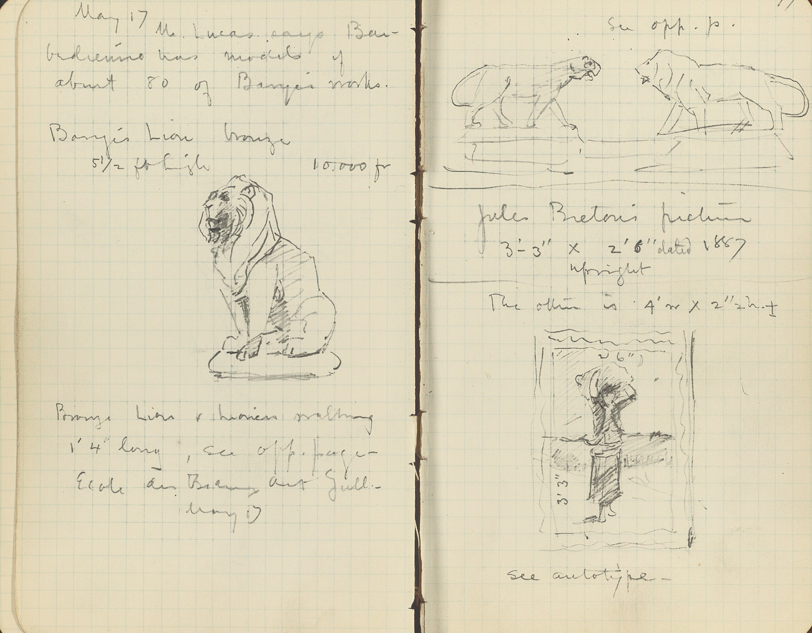 Pages from William M. R. French's Sketchbook