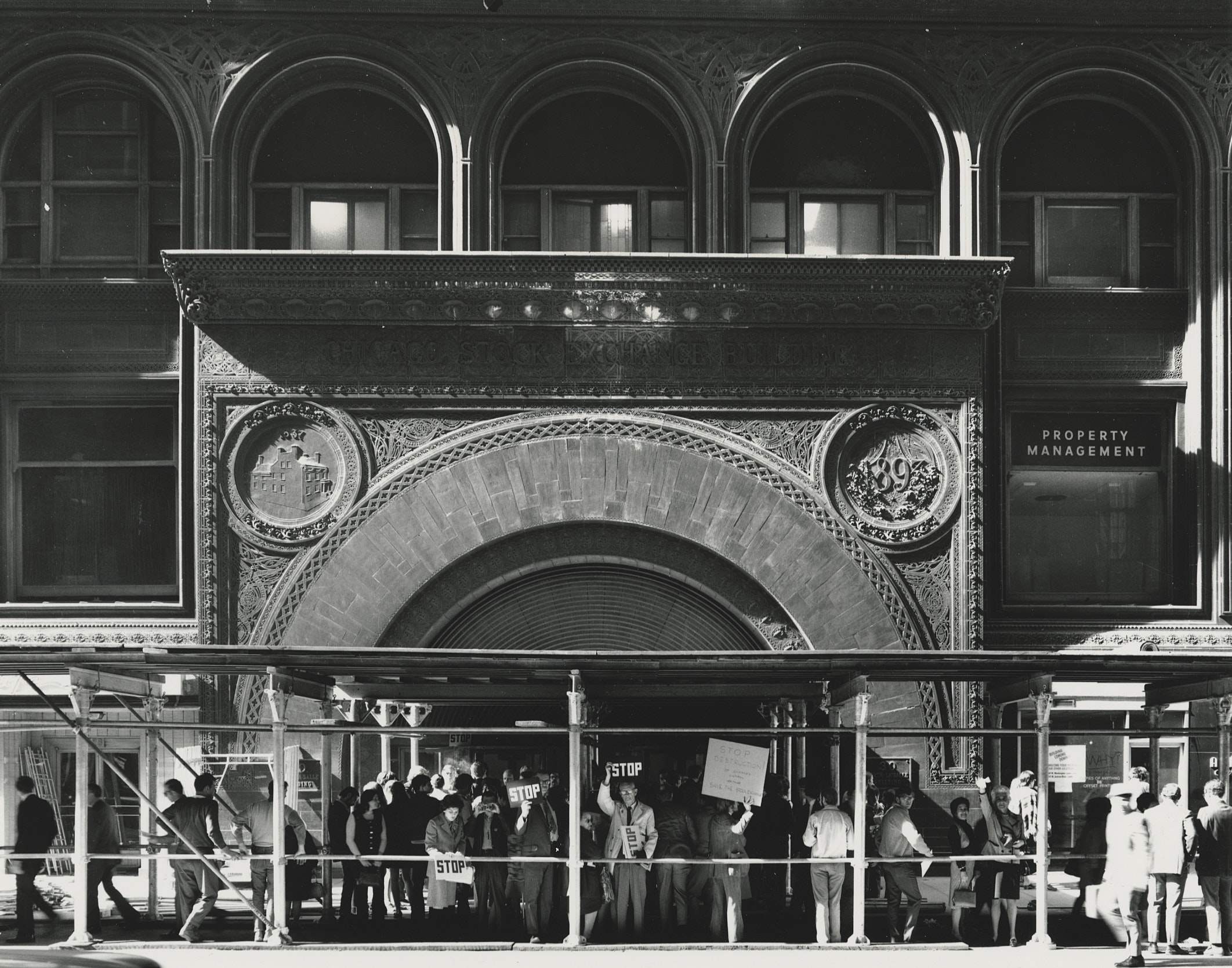 Archival image of the Chicago Stock Exchange Building, about 1971