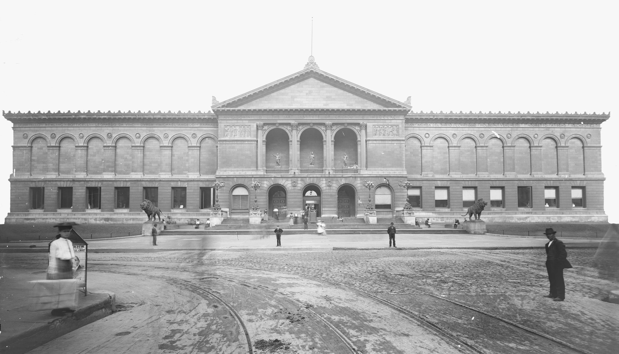 1894 photo of front of Art Institute