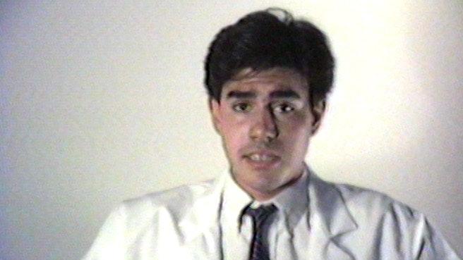 Still from a film by Gregg Bordowitz.