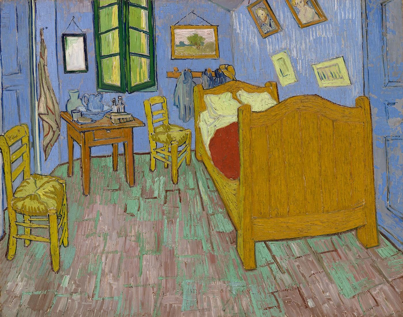 Van Gogh's The Bedroom 1889 Art Institute of Chicago
