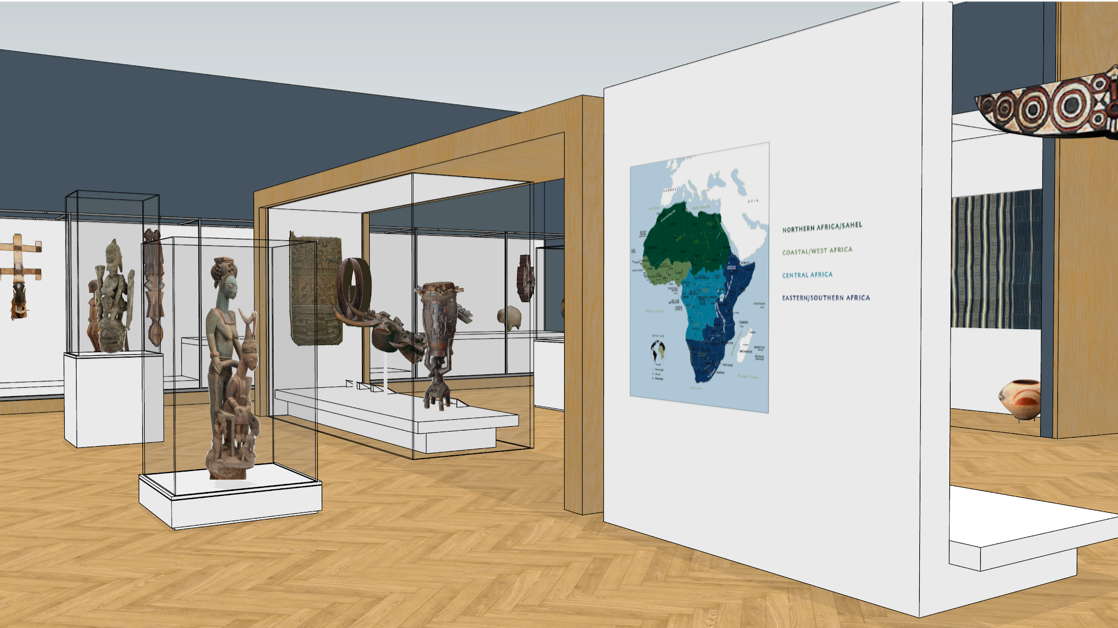 Renderin of new African gallery
