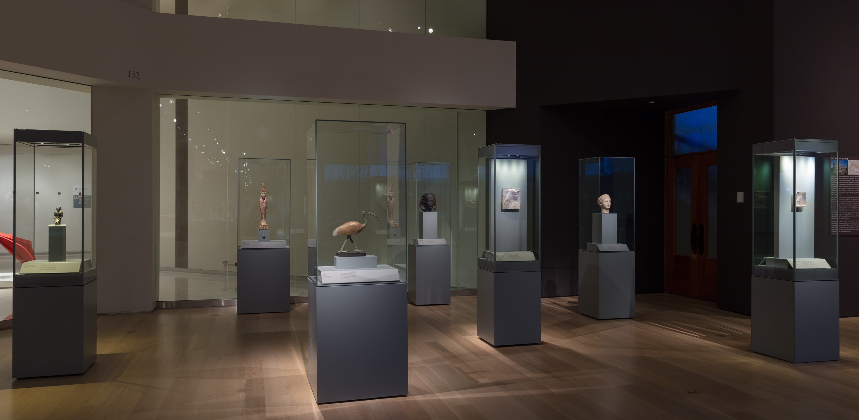 Photo of the Ptolemaic Egyptian installation in the Jaharis Galleries