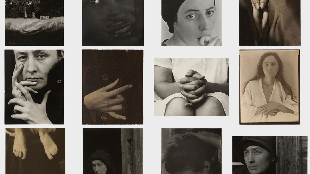Screen shot from the Alfred Stieglitz microsite