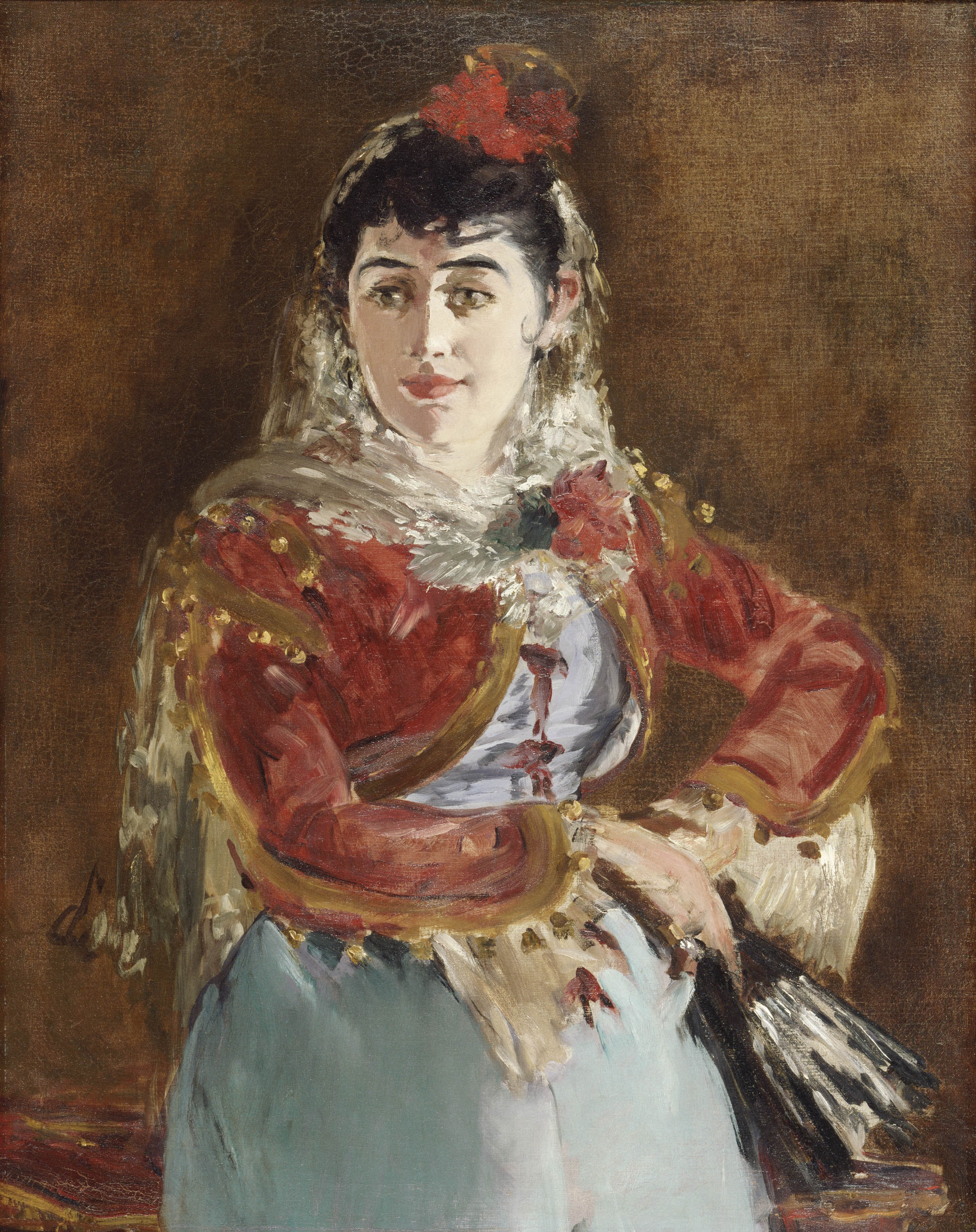 A painting of a dancer in Spanish costume.