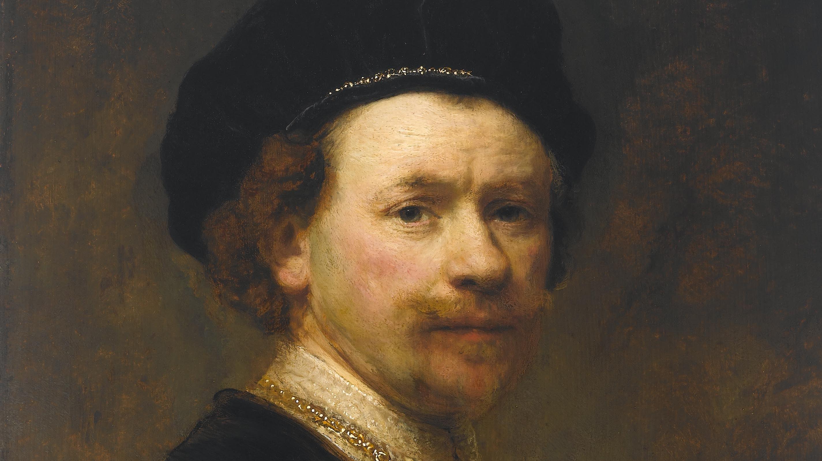 Rembrandt Harmenszoon van Rijn. Self-Portrait, about 1636–38. The Norton Simon Foundation, Pasadena, California.