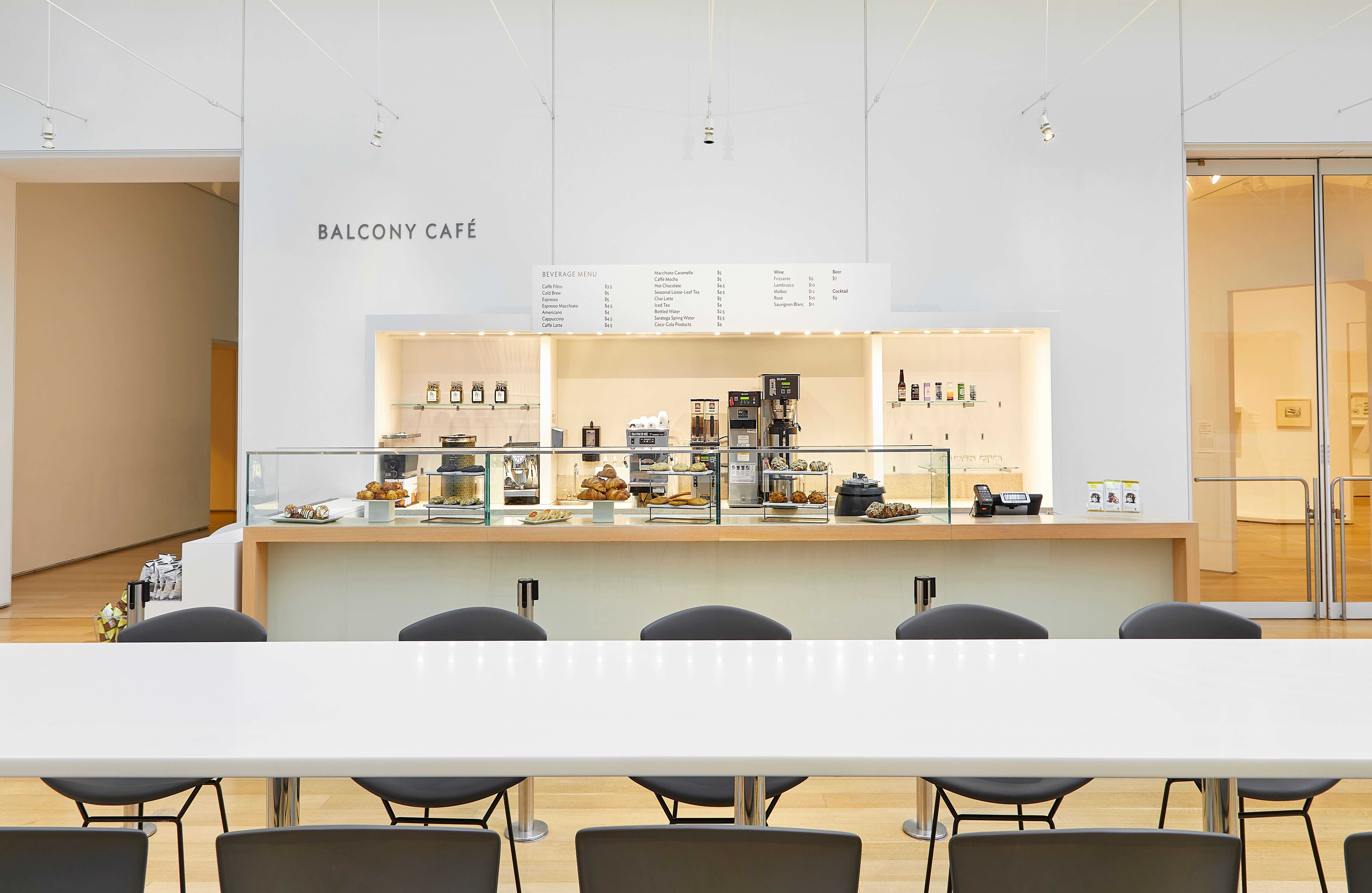 A photography of the museum's Balcony Cafe.