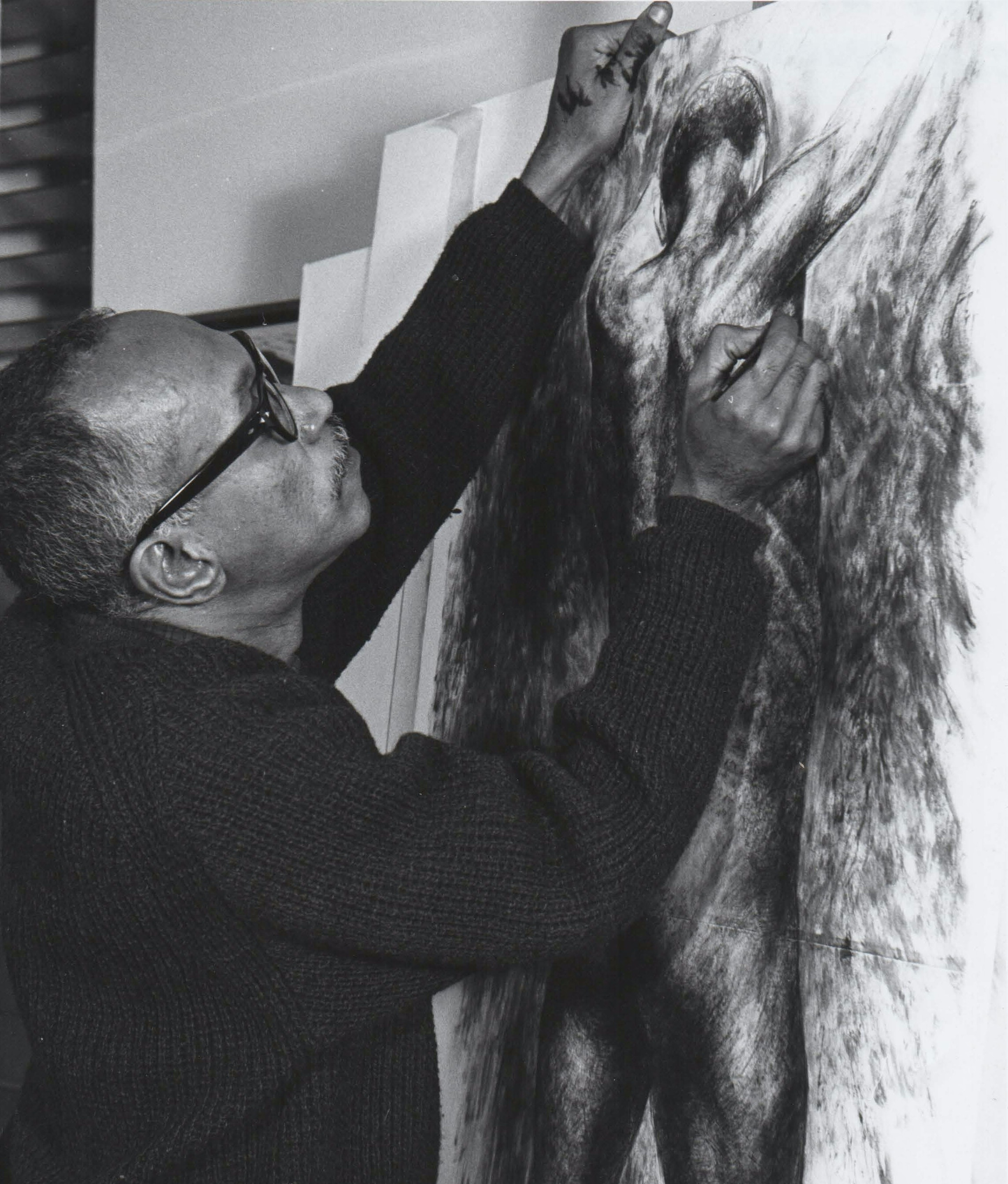 Photograph of the artist Charles White