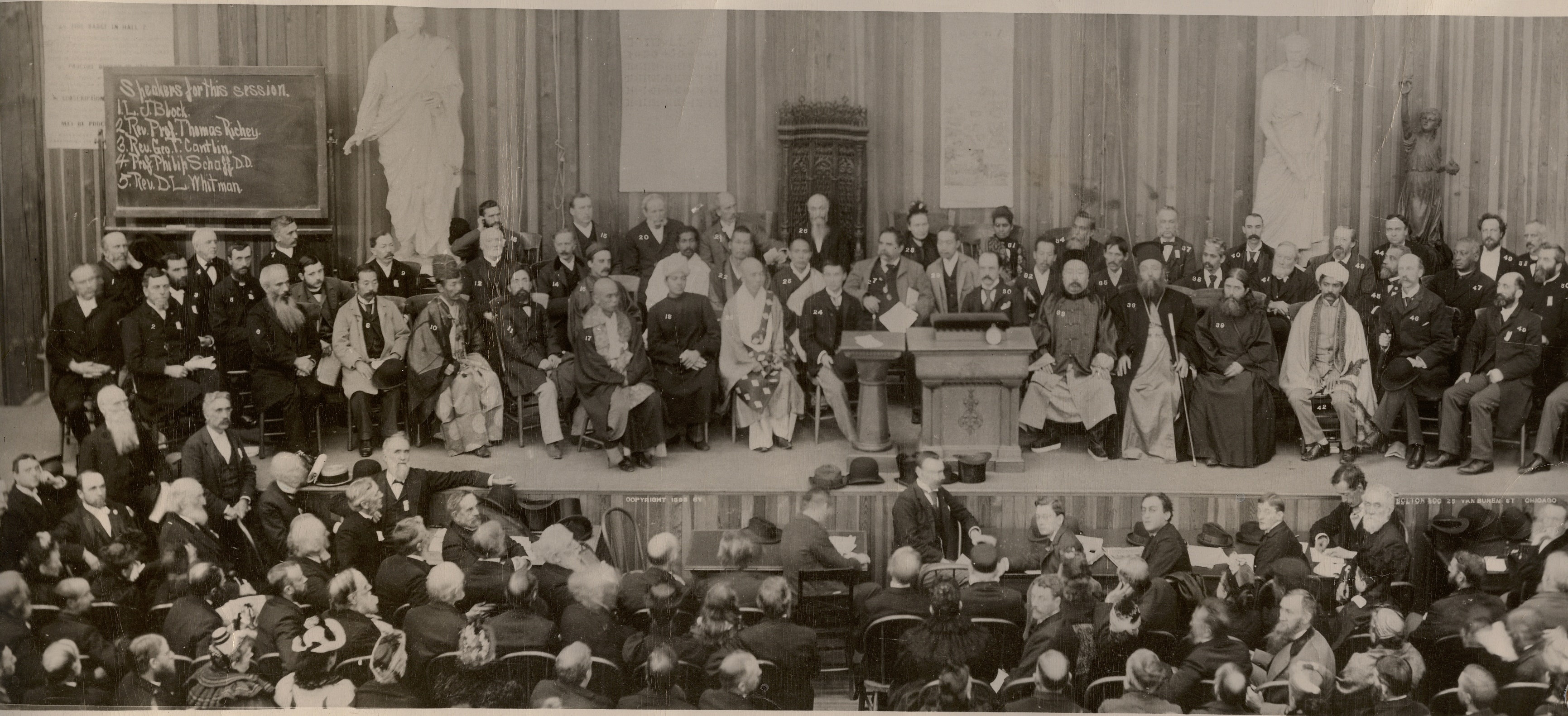 Photo of 1893 World's Parliament of Religion