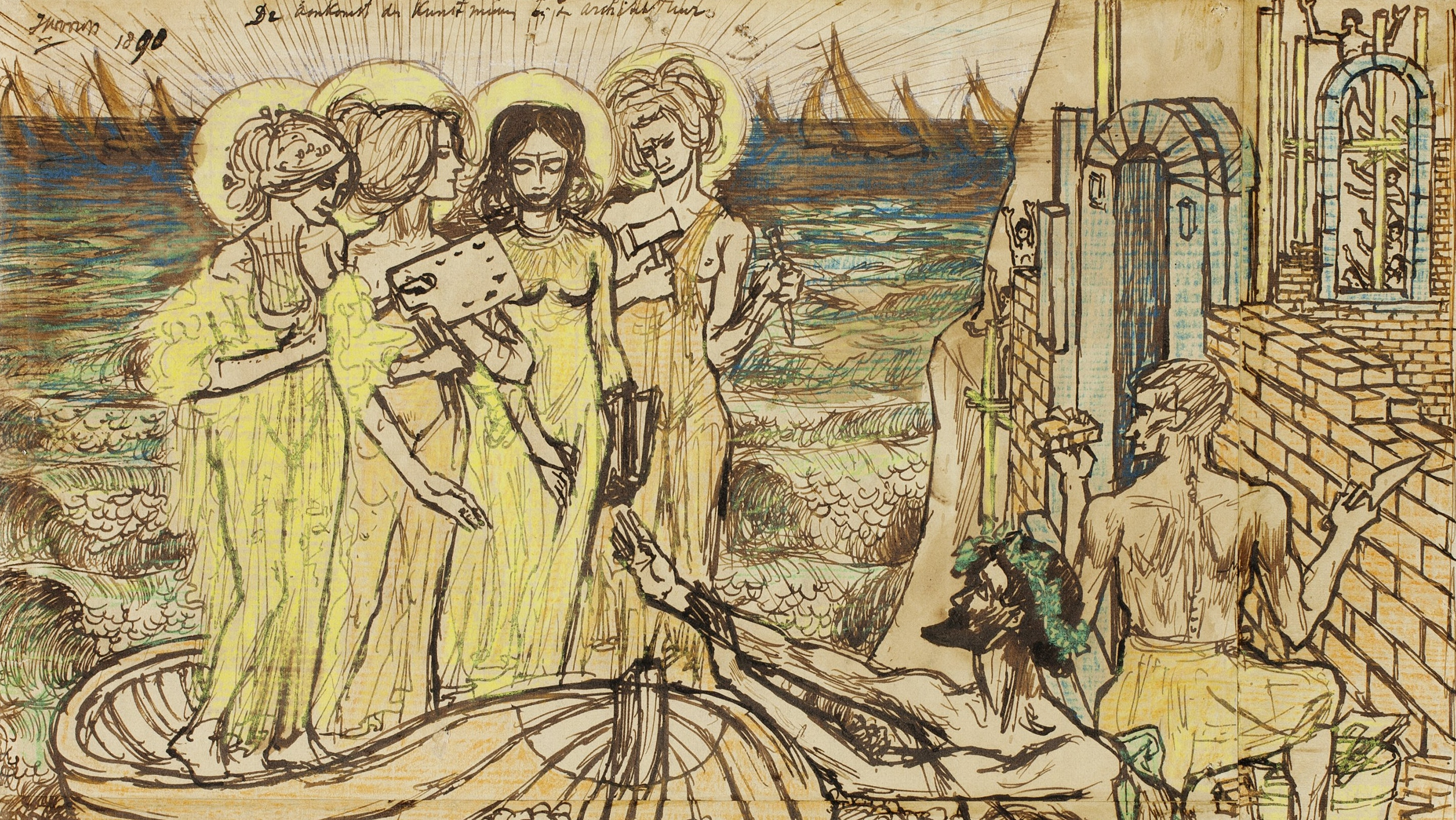 2013.1036 Jan Toorop The Arrival of the Muses