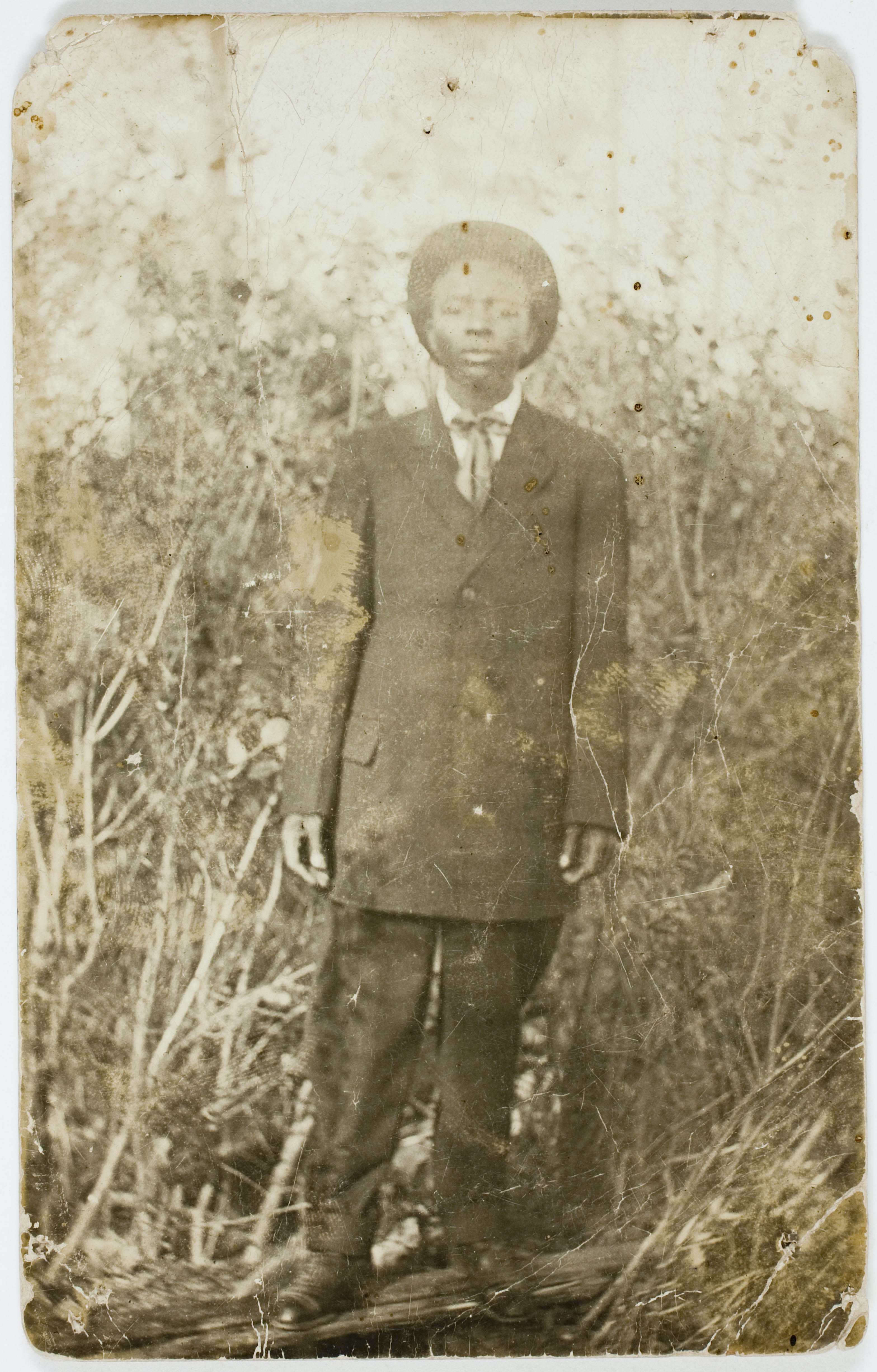 Untitled photograph of young black man from the Peter Cohen collection