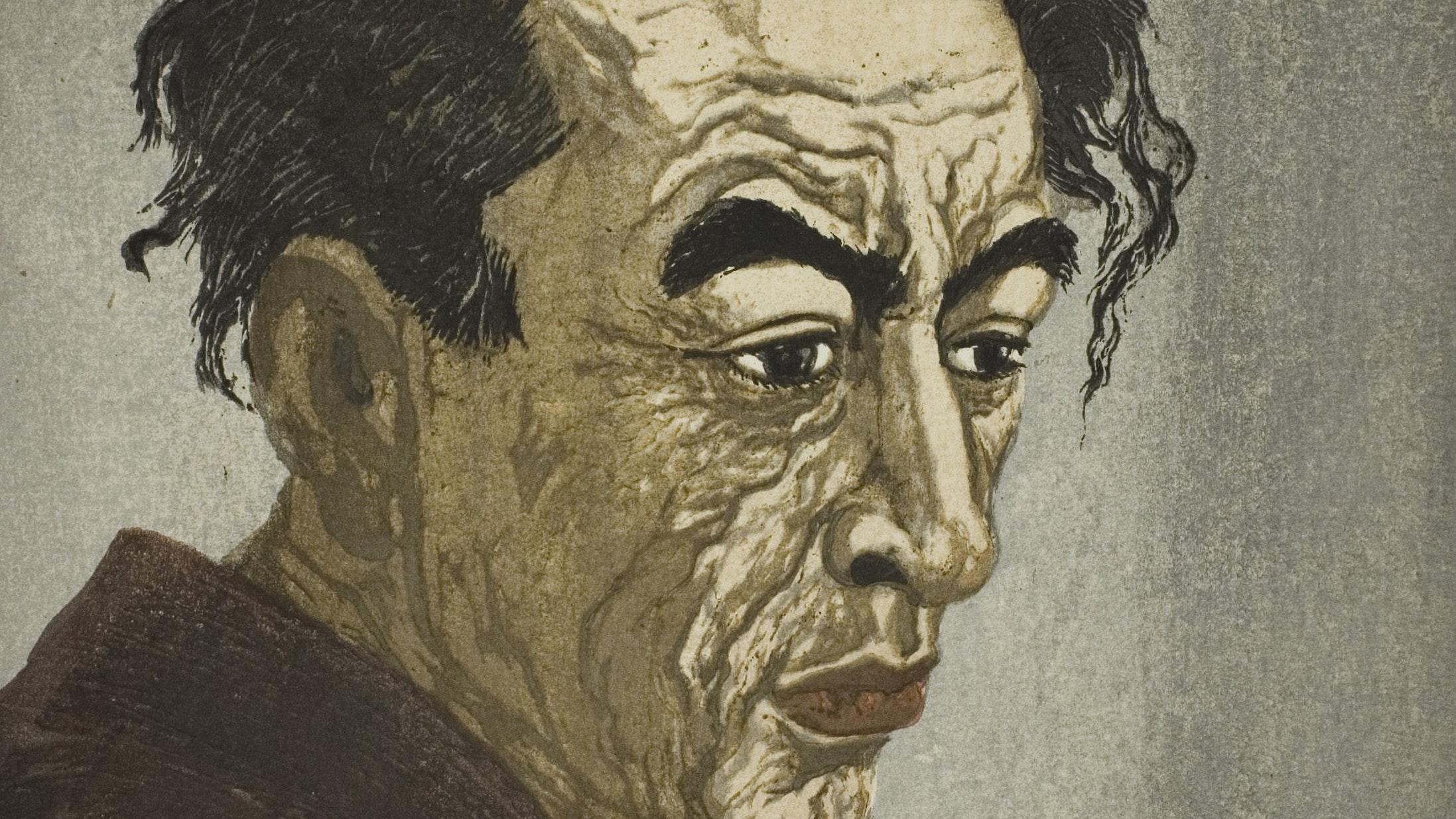 1962.251 Onchi Koshiro Portrait Of The Poet Hagiwara Sakutaro