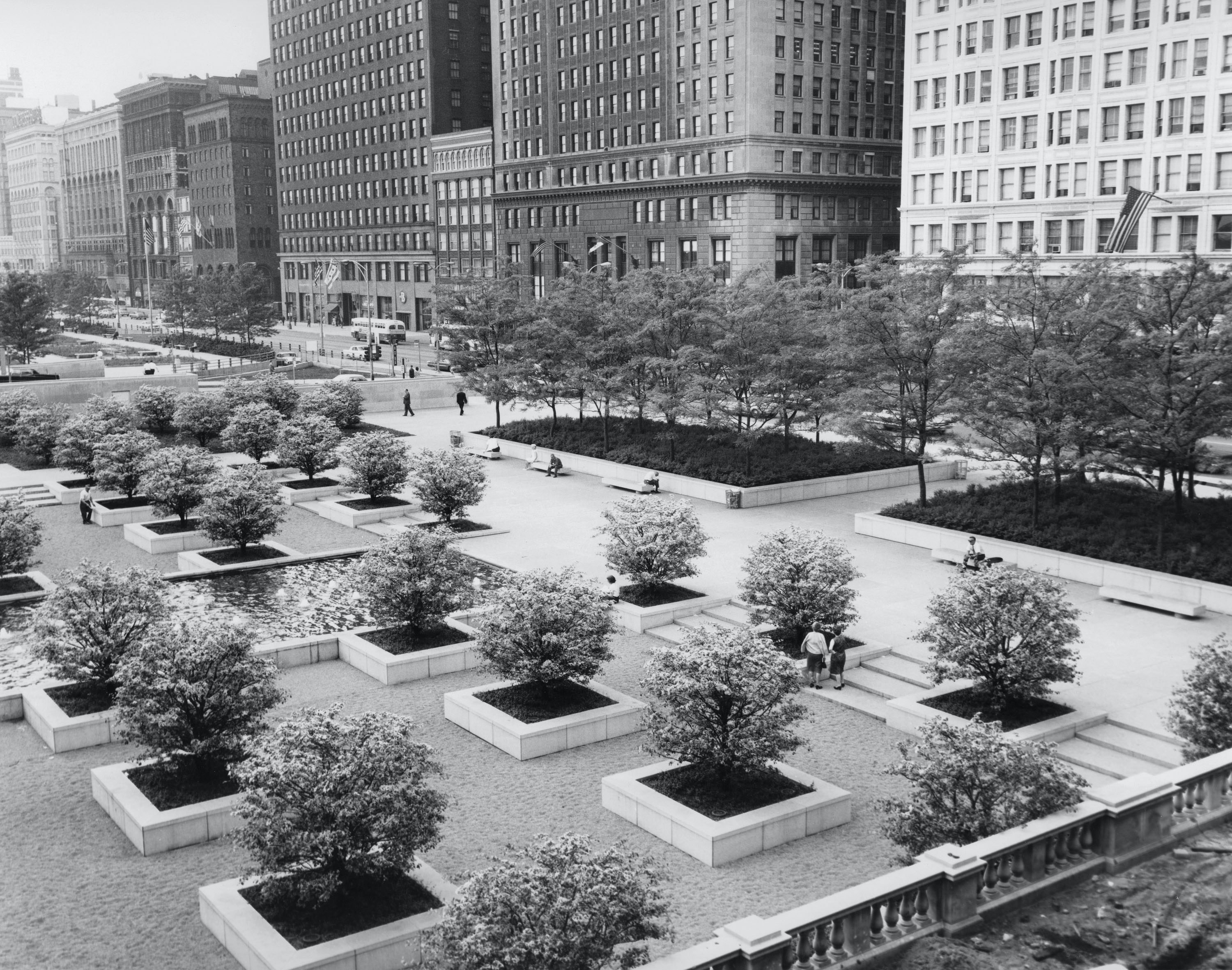 View of South Garden shortly after completion