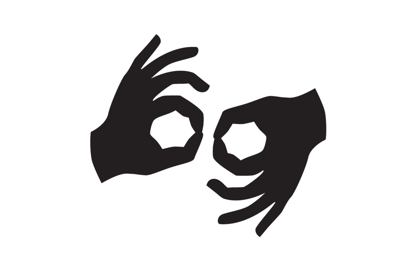 Sign Language Accessibility Icon