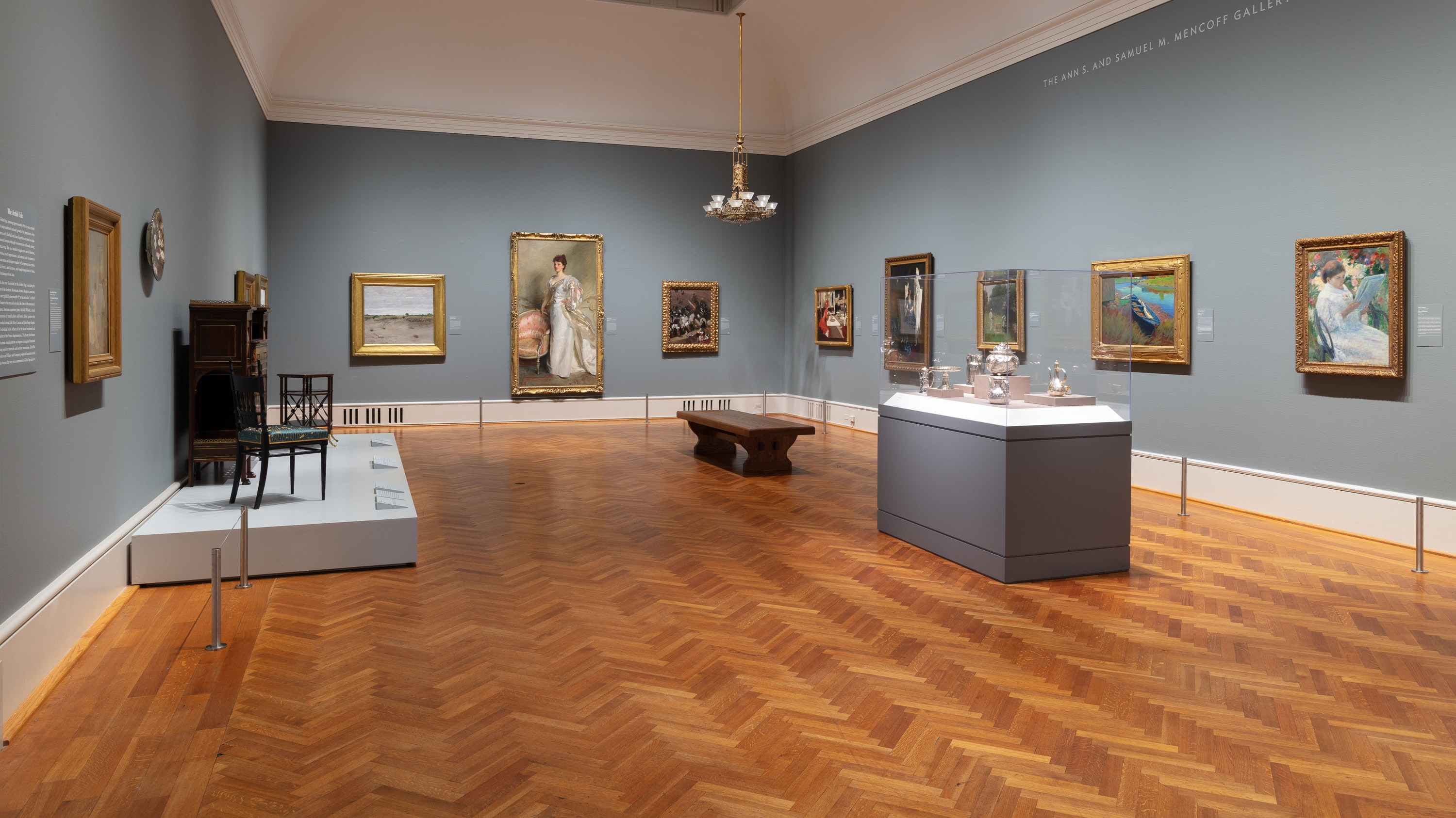 Photo of newly reinstalled American art gallery highlight Whistler, Sargent and the Gilded Age