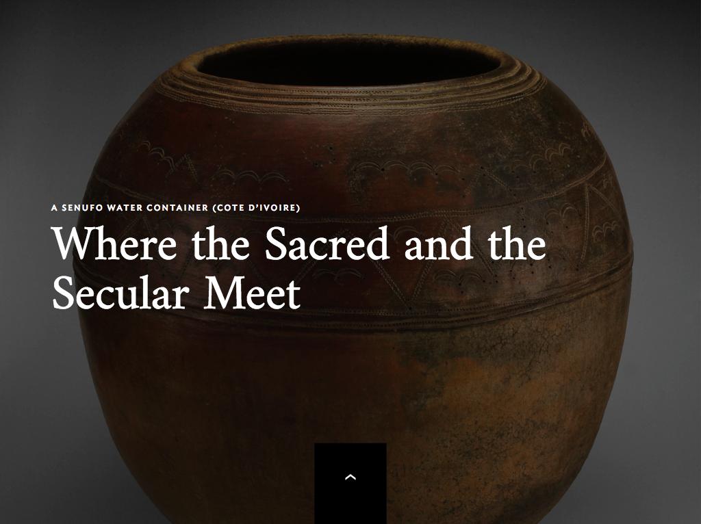 Attract module for Senufo Pot digital label
