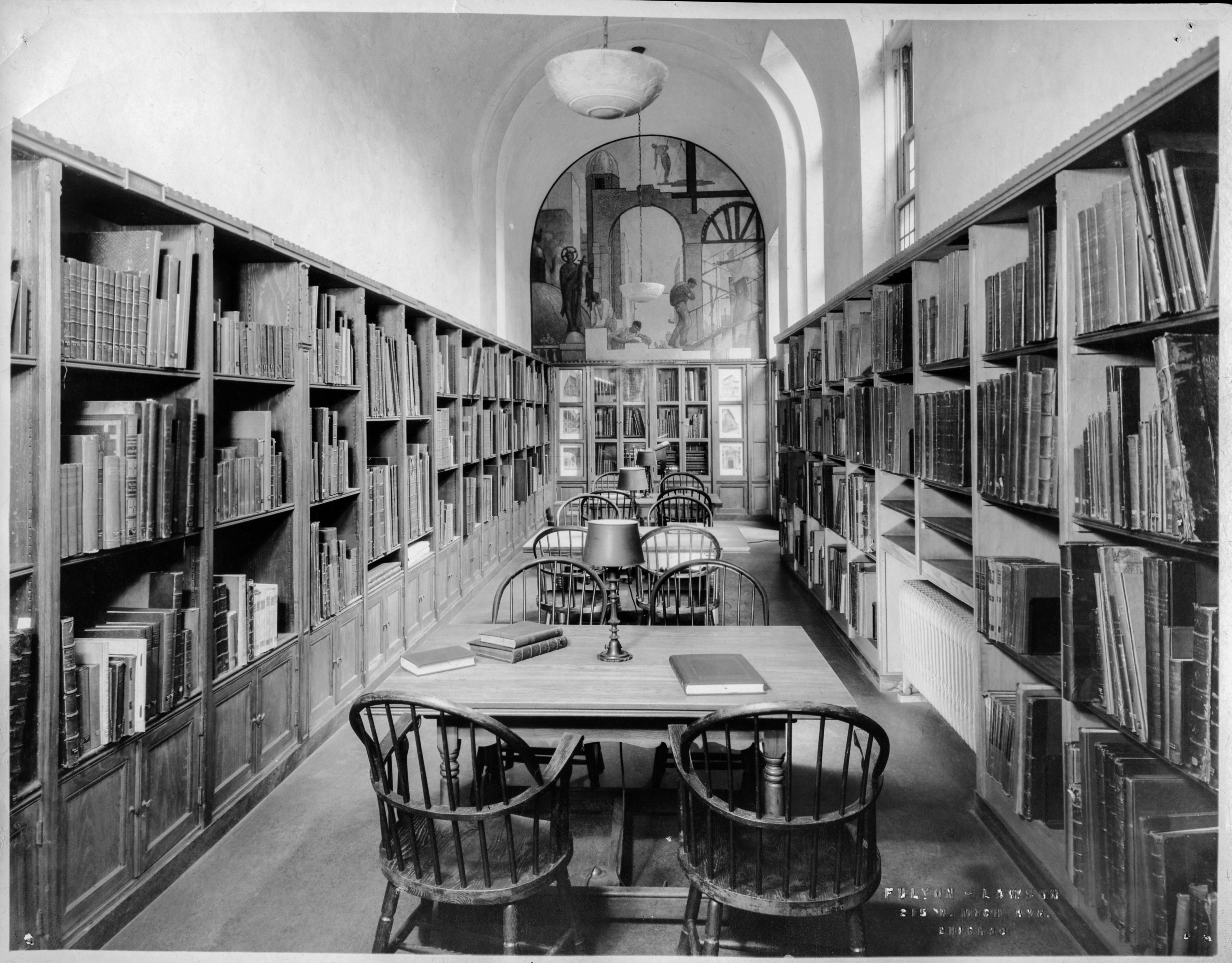 Archival image of the Ryerson Library Reading Room