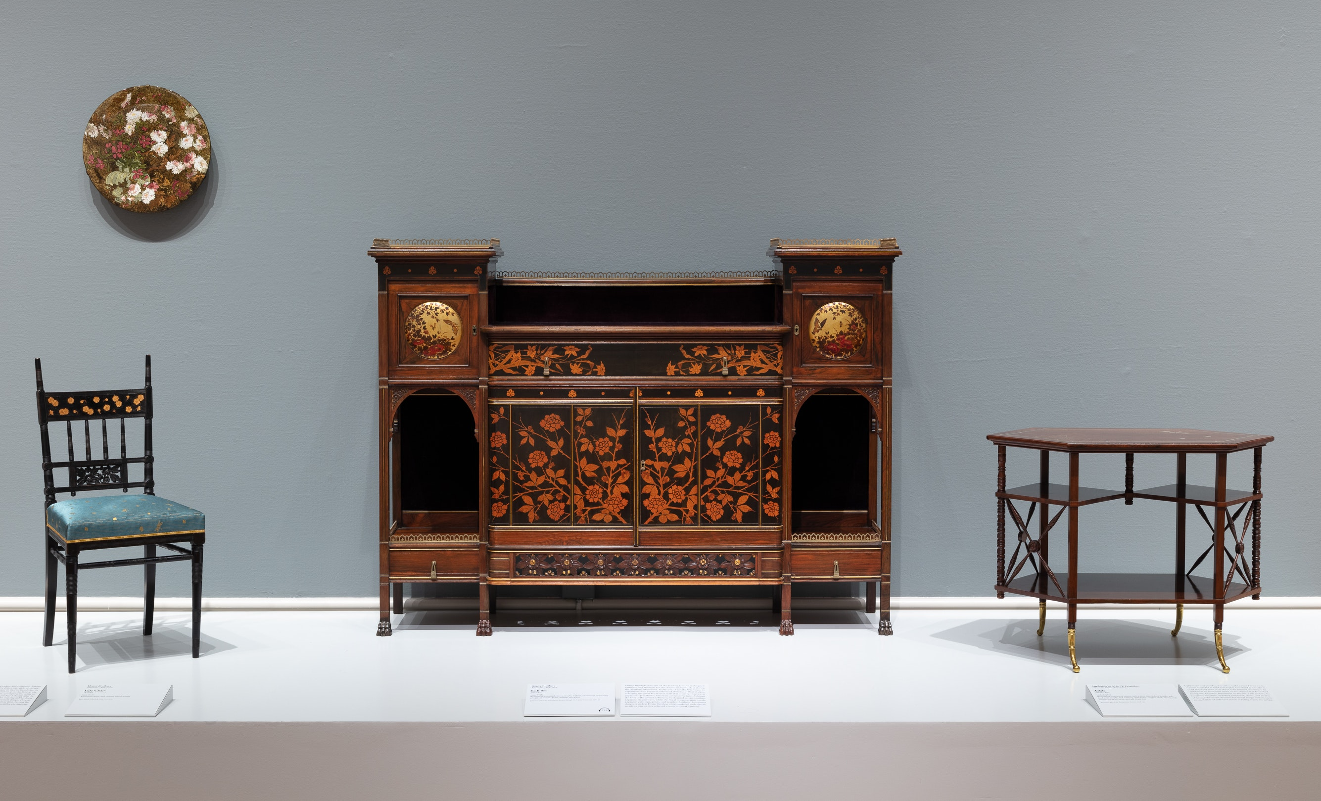 Furniture by the Herter Brothers and A and H Lejambre in the American gallery 273.