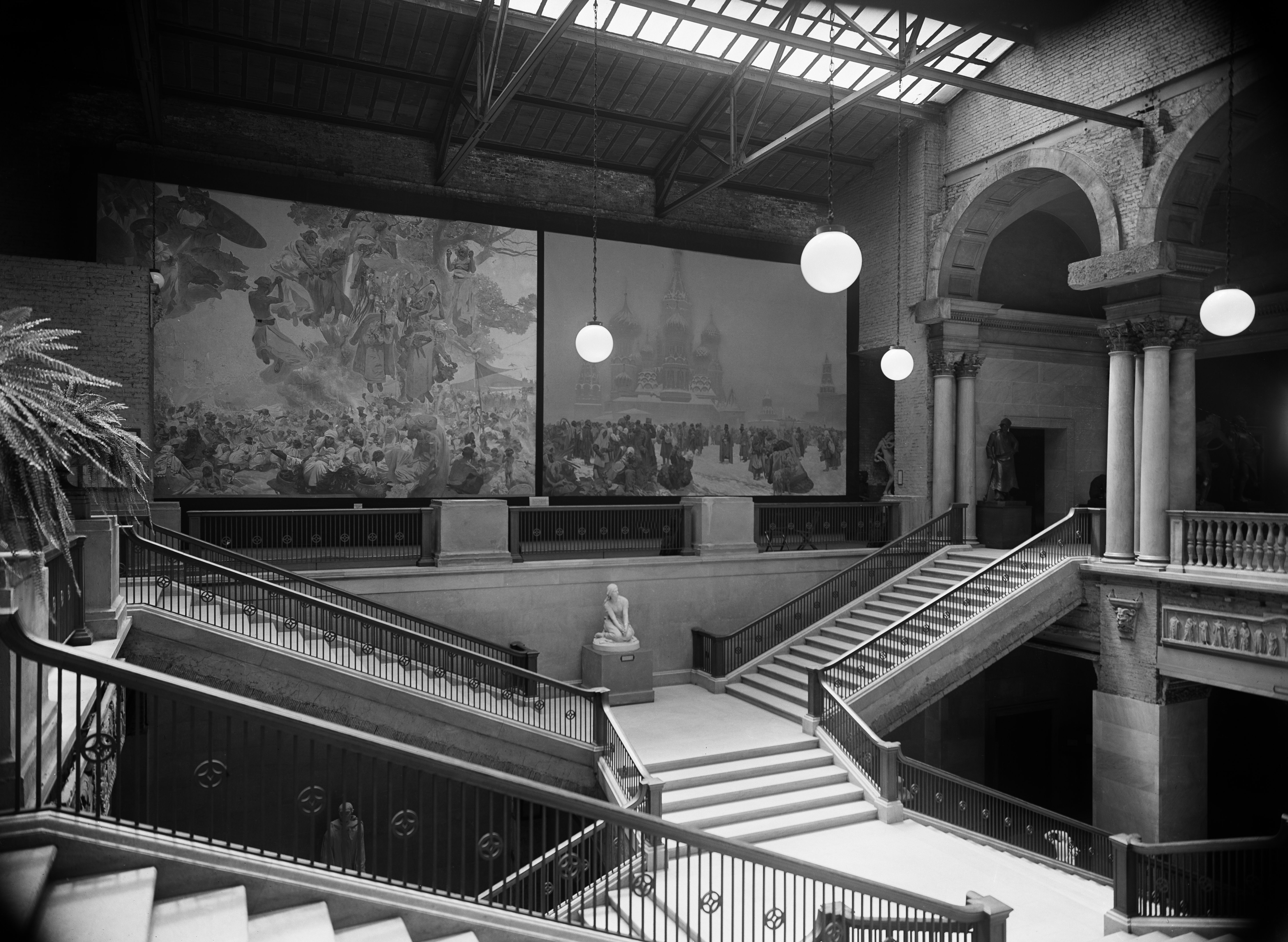Archival image of the grand staircase