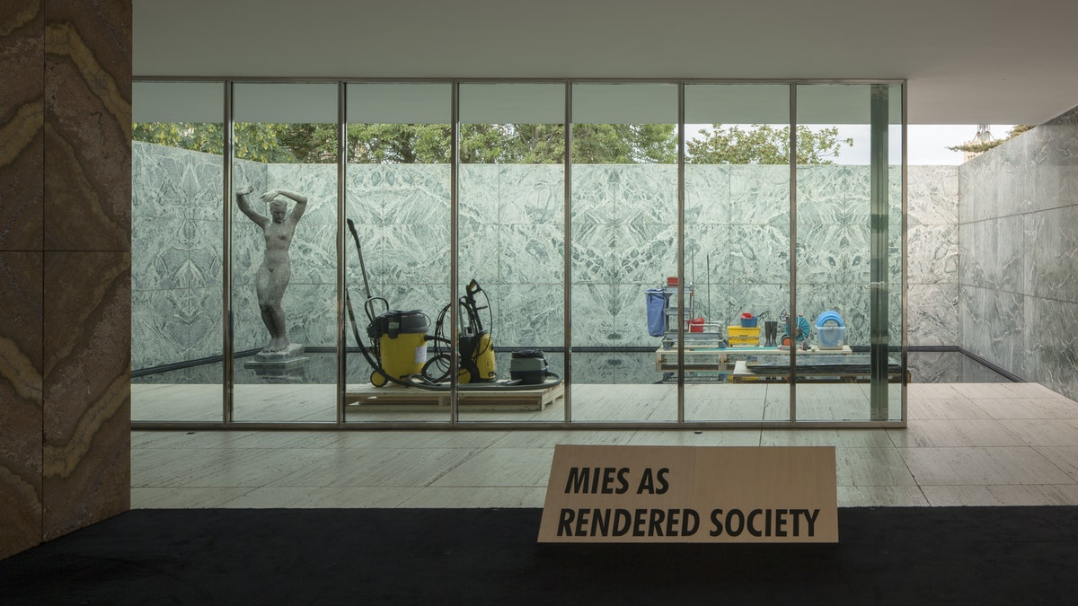PHANTOM: Mies as Rendered Society by Andrés Jaque—Backstage Notes on Collecting Architecture